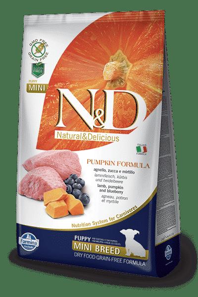N&D Grain Free Pumpkin Puppy Mini Agnello e Mirtillo