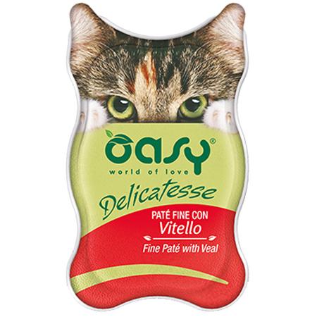 Oasy Wet Cat Delicatesse - Paté con Tacchino 0.085 kg