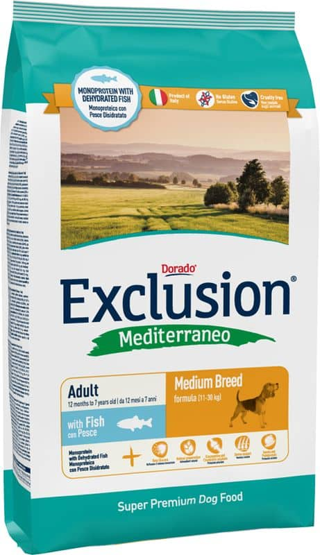 Exclusion Mediterraneo Adult Medium Breed Pesce