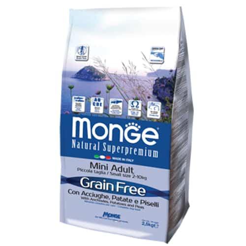 Monge Grain Free Mini Adult con Acciughe