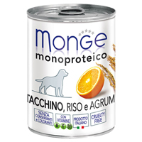 Monge Monoproteico Tacchino riso e agrumi 0.400 kg