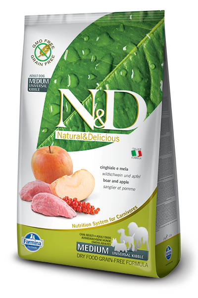N&D Grain Free Adult Medium Cinghiale e Mela