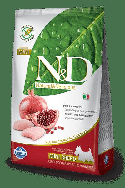 N&D Grain Free Adult Mini Pollo e Melograno