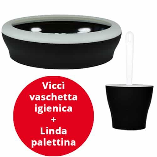 Viccì vaschetta igienica + Linda palettina Nero