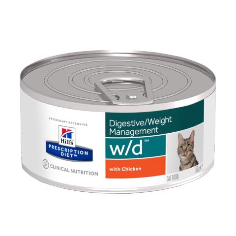 Hill's Prescription Diet w/d Feline con Pollo 0.156 kg