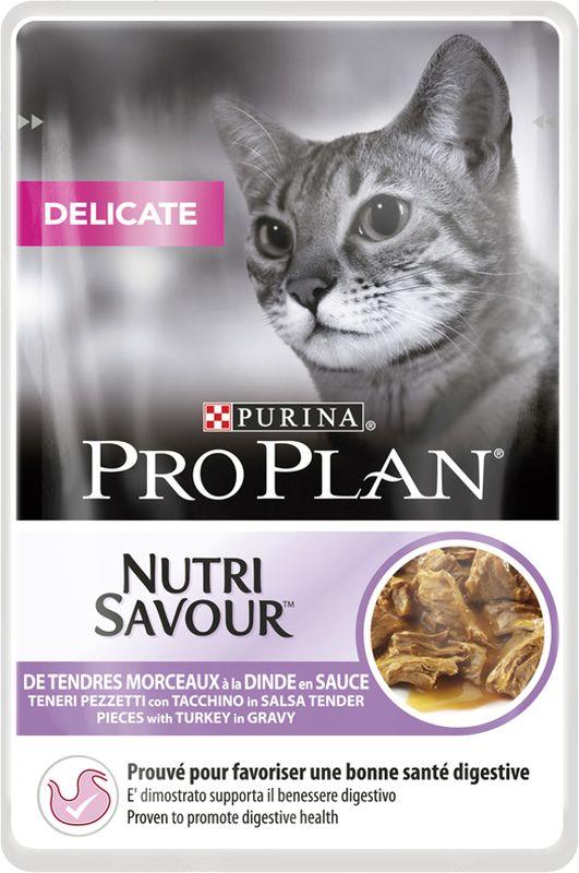 Pro Plan Delicate Nutrisavour in salsa con Tacchino 0.085 kg