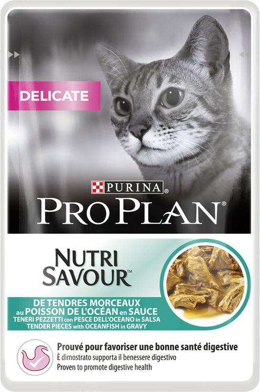 Pro Plan Delicate Nutrisavour in salsa con Pesce dell'Oceano