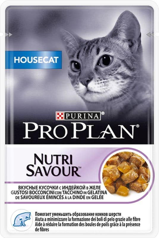 Pro Plan Housecat Nutrisavour in gelatina con Tacchino 0.085 kg