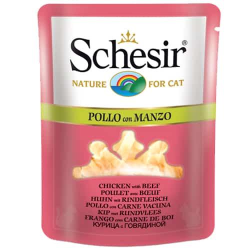 Schesir Cat in busta con Pollo e Manzo 0.070 kg
