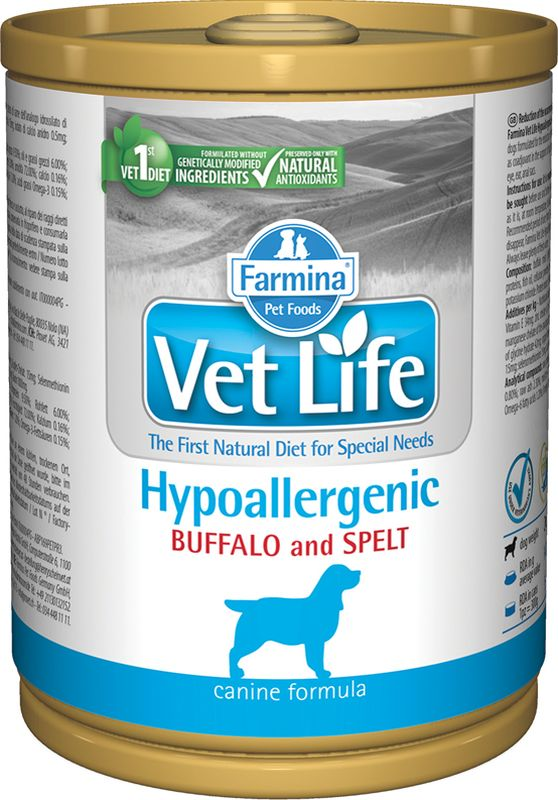 Farmina Vet Life Canine Hypoallergenic Bufalo & Farro 0.300 kg