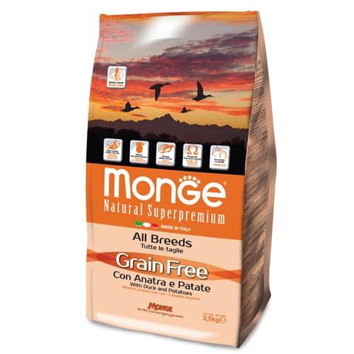 Monge Grain Free con Anatra e Patate All Breed