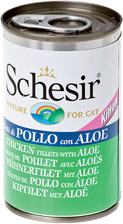 Schesir Cat Kitten Lattina 140 gr x 6