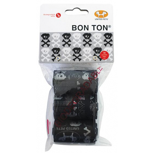 Bustine Bon Ton Nero Skull